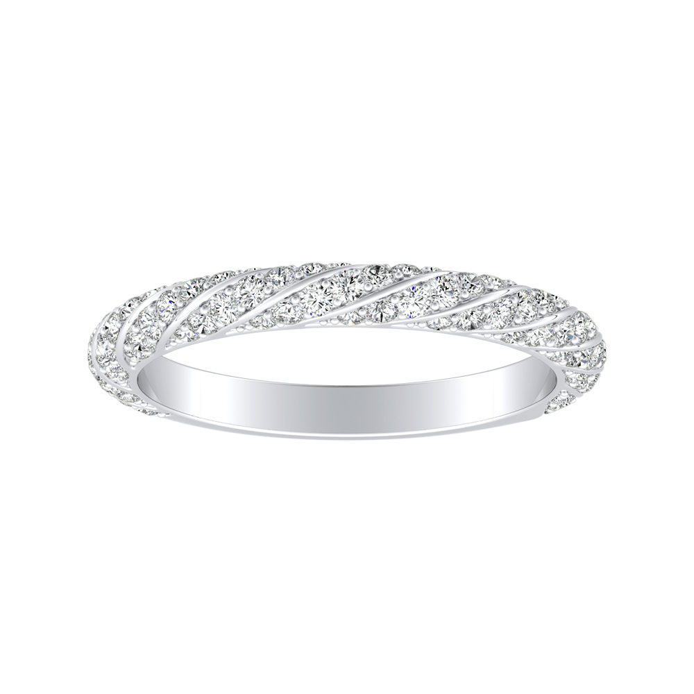 VIVIEN Diamond Wedding Ring In 18K White Gold