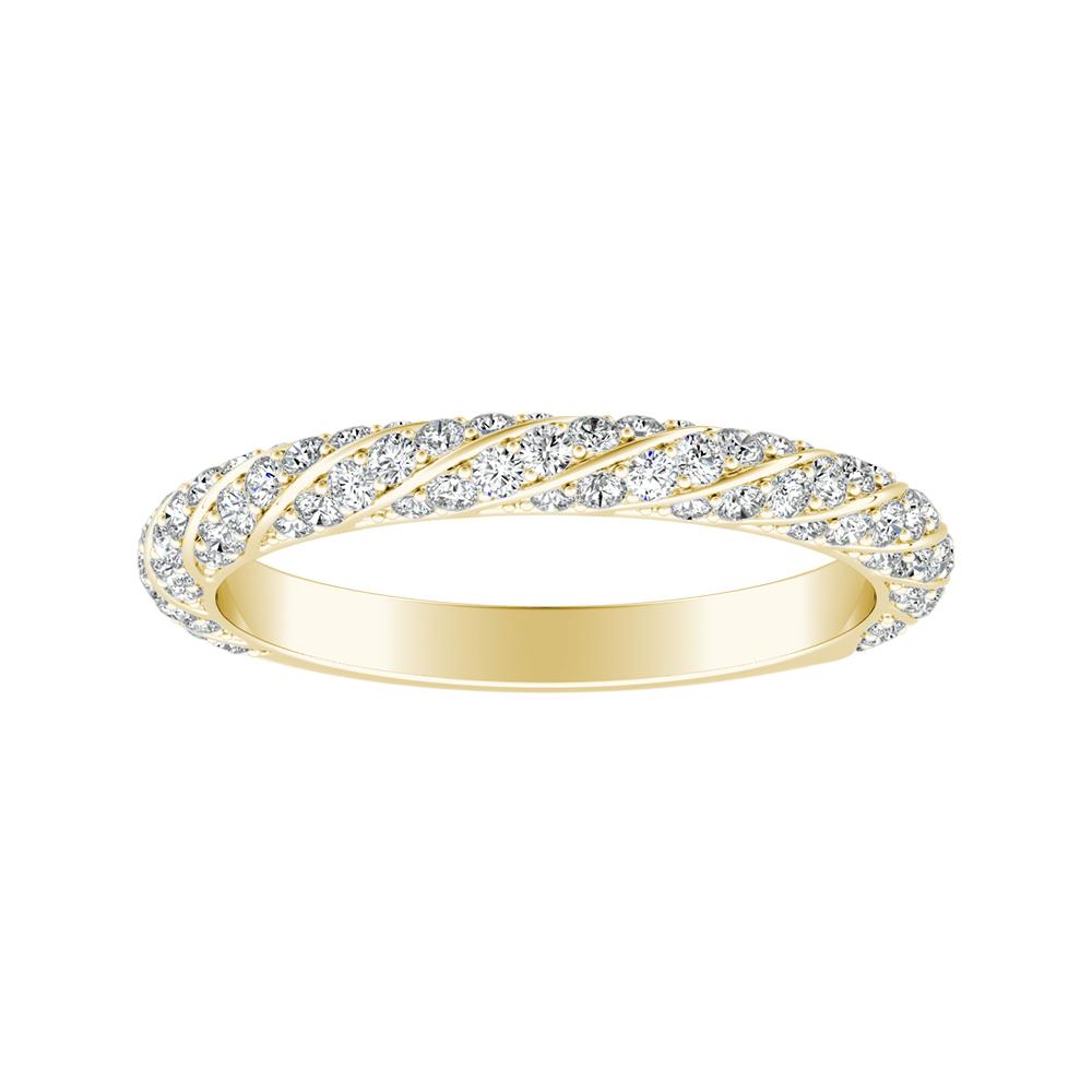 VIVIEN Diamond Wedding Ring In 14K Yellow Gold