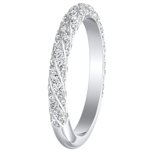 VIVIEN Diamond Wedding Ring In 14K White Gold