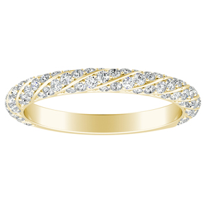 VIVIEN Diamond Wedding Ring In 14K Yellow Gold