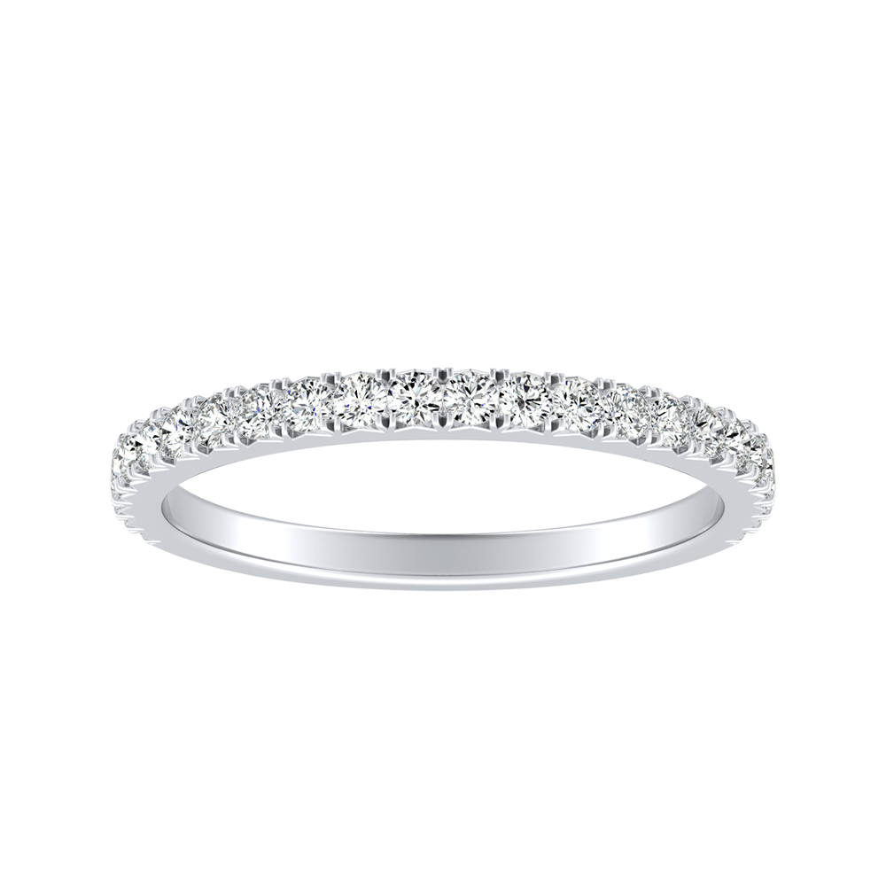 LIV Classic Stackable Diamond Wedding Ring In 18K White Gold