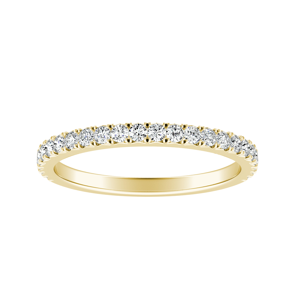 LIV Classic Stackable Diamond Wedding Ring In 18K Yellow Gold