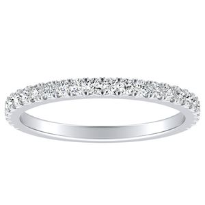LIV Classic Stackable Diamond Wedding Ring In 14K White Gold