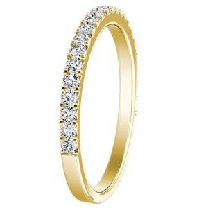 LIV Classic Stackable Diamond Wedding Ring In 14K Yellow Gold