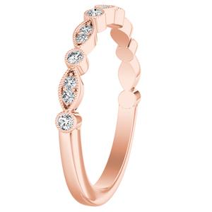 ATHENA Vintage Style Diamond Wedding Ring In 14K Rose Gold