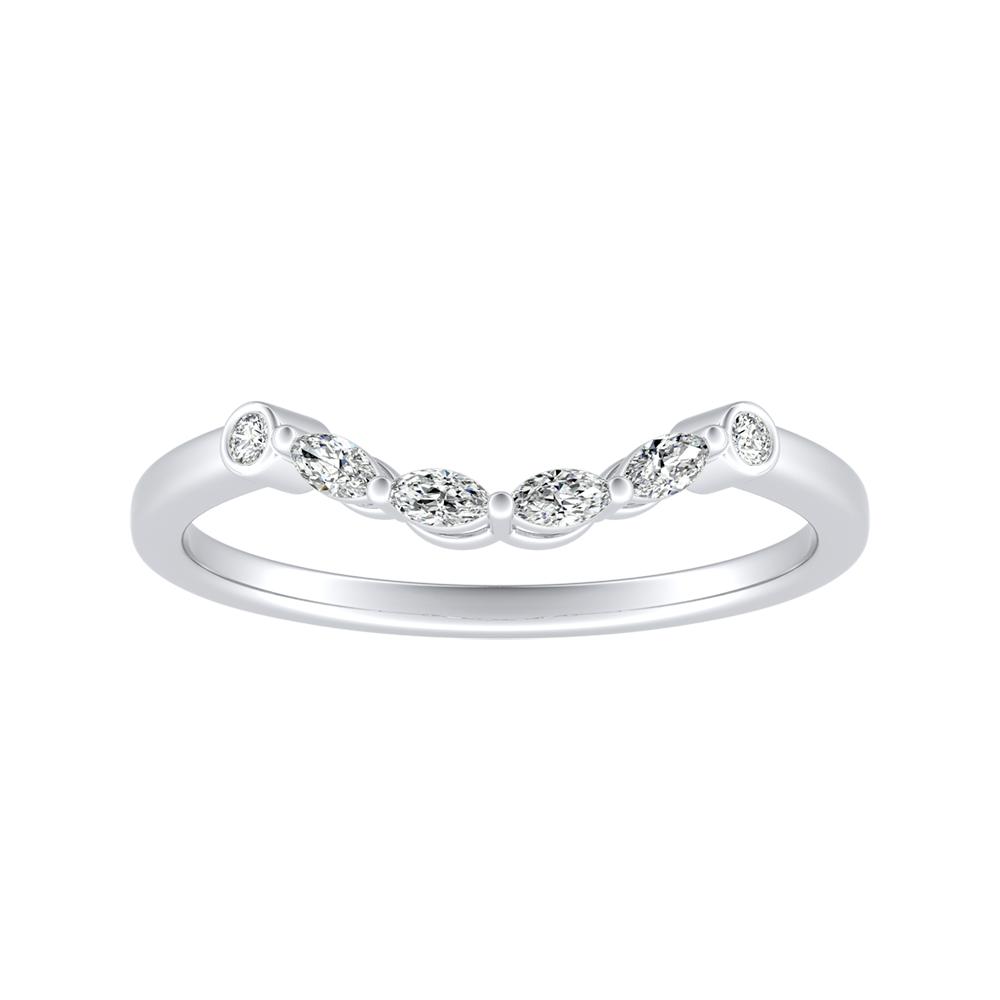 PRIMROSE Diamond Wedding Ring In 14K White Gold