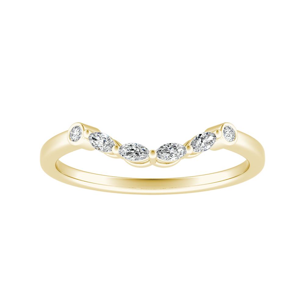 PRIMROSE Diamond Wedding Ring In 14K Yellow Gold