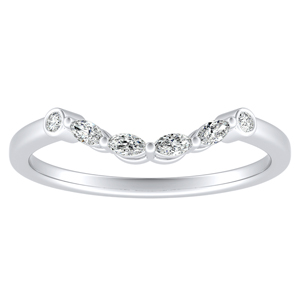 PRIMROSE Diamond Wedding Ring In 18K White Gold