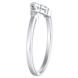 PRIMROSE Diamond Wedding Ring In 14K White Gold
