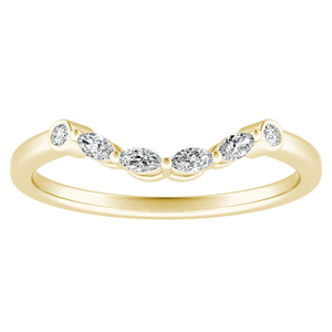 PRIMROSE Diamond Wedding Ring In 14K Yellow Gold