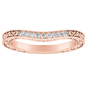 ELEANOR Diamond Wedding Ring In 14K Rose Gold
