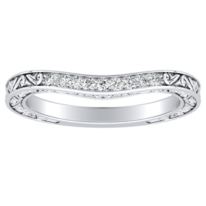 ELEANOR Diamond Wedding Ring In 18K White Gold