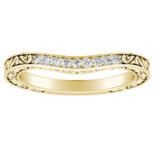 ELEANOR Diamond Wedding Ring In 18K Yellow Gold