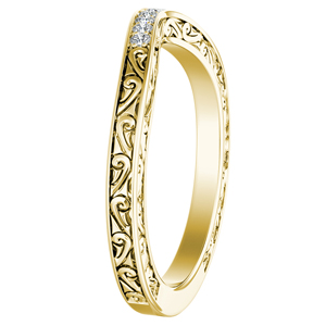 ELEANOR Diamond Wedding Ring In 14K Yellow Gold