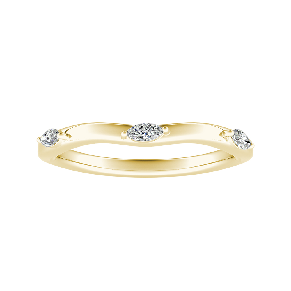 BLOSSOM Diamond Wedding Ring In 14K Yellow Gold