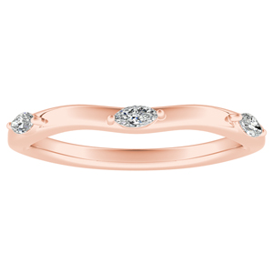BLOSSOM Diamond Wedding Ring In 14K Rose Gold
