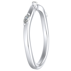 BLOSSOM Diamond Wedding Ring In 14K White Gold