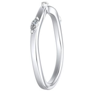 BLOSSOM Diamond Wedding Ring In 14K White Gold