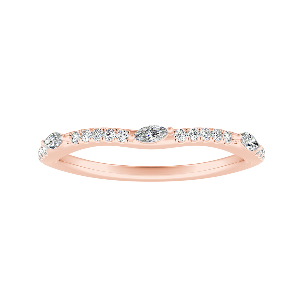 MEADOW Diamond Wedding Ring In 14K Rose Gold