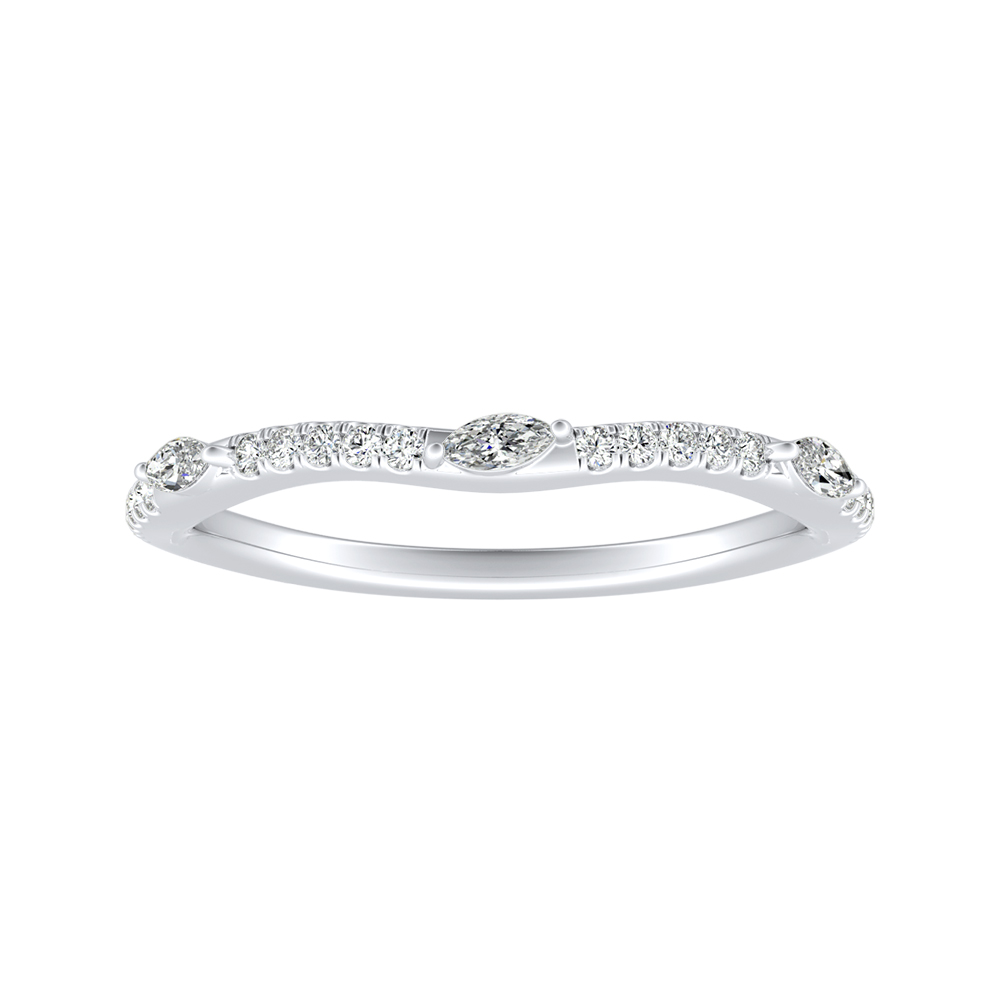 MEADOW Diamond Wedding Ring In 14K White Gold