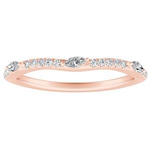 MEADOW Diamond Wedding Ring In 14K Rose Gold