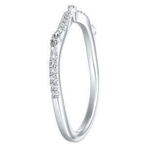 MEADOW Diamond Wedding Ring In 14K White Gold
