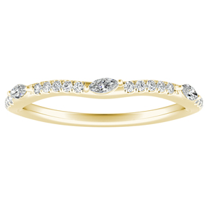 MEADOW Diamond Wedding Ring In 14K Yellow Gold