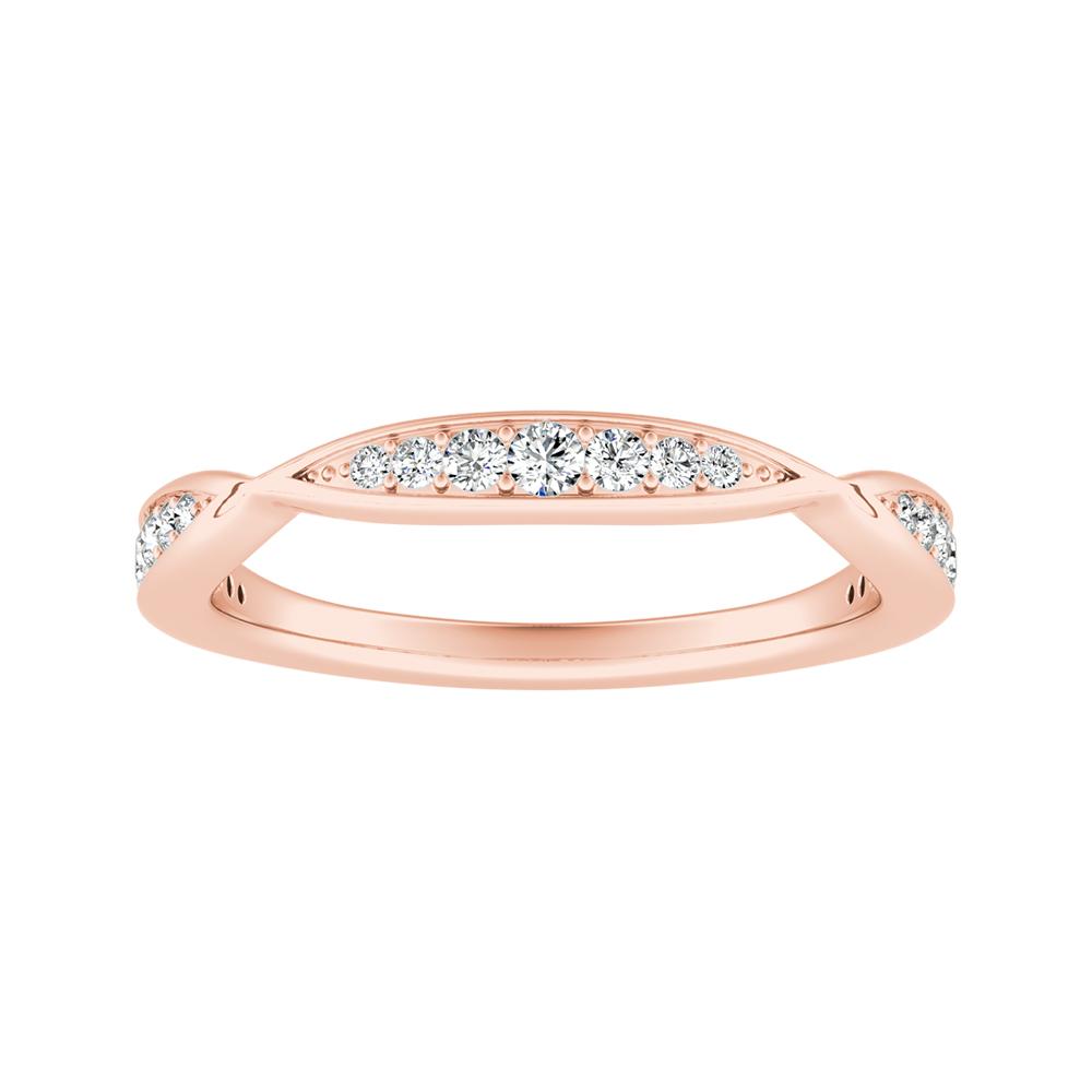 FLEUR Diamond Wedding Ring In 14K Rose Gold