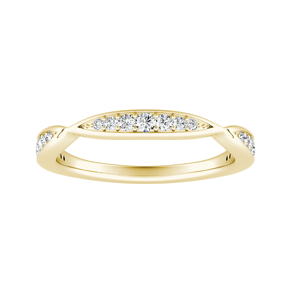 FLEUR Diamond Wedding Ring In 14K Yellow Gold