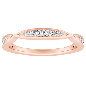 FLEUR Diamond Wedding Ring In 14K Rose Gold