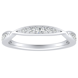 FLEUR Diamond Wedding Ring In Platinum