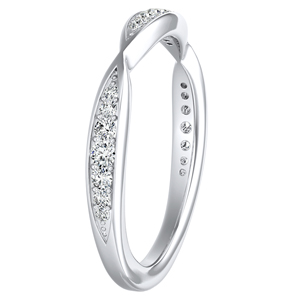 FLEUR Diamond Wedding Ring In 14K White Gold