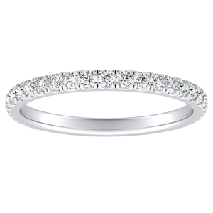 RILEY Classic Diamond Wedding Ring In 14K White Gold