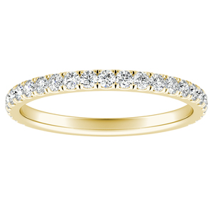 RILEY Classic Diamond Wedding Ring In 14K Yellow Gold