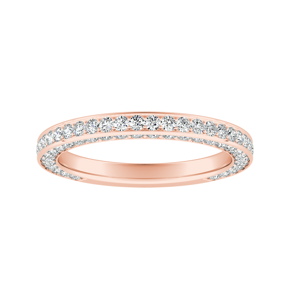 PENELOPE Diamond Wedding Ring In 14K Rose Gold