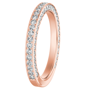PENELOPE Diamond Wedding Ring In 14K Rose Gold