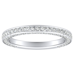 PENELOPE Diamond Wedding Ring In 14K White Gold