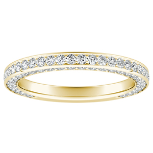 PENELOPE Diamond Wedding Ring In 14K Yellow Gold
