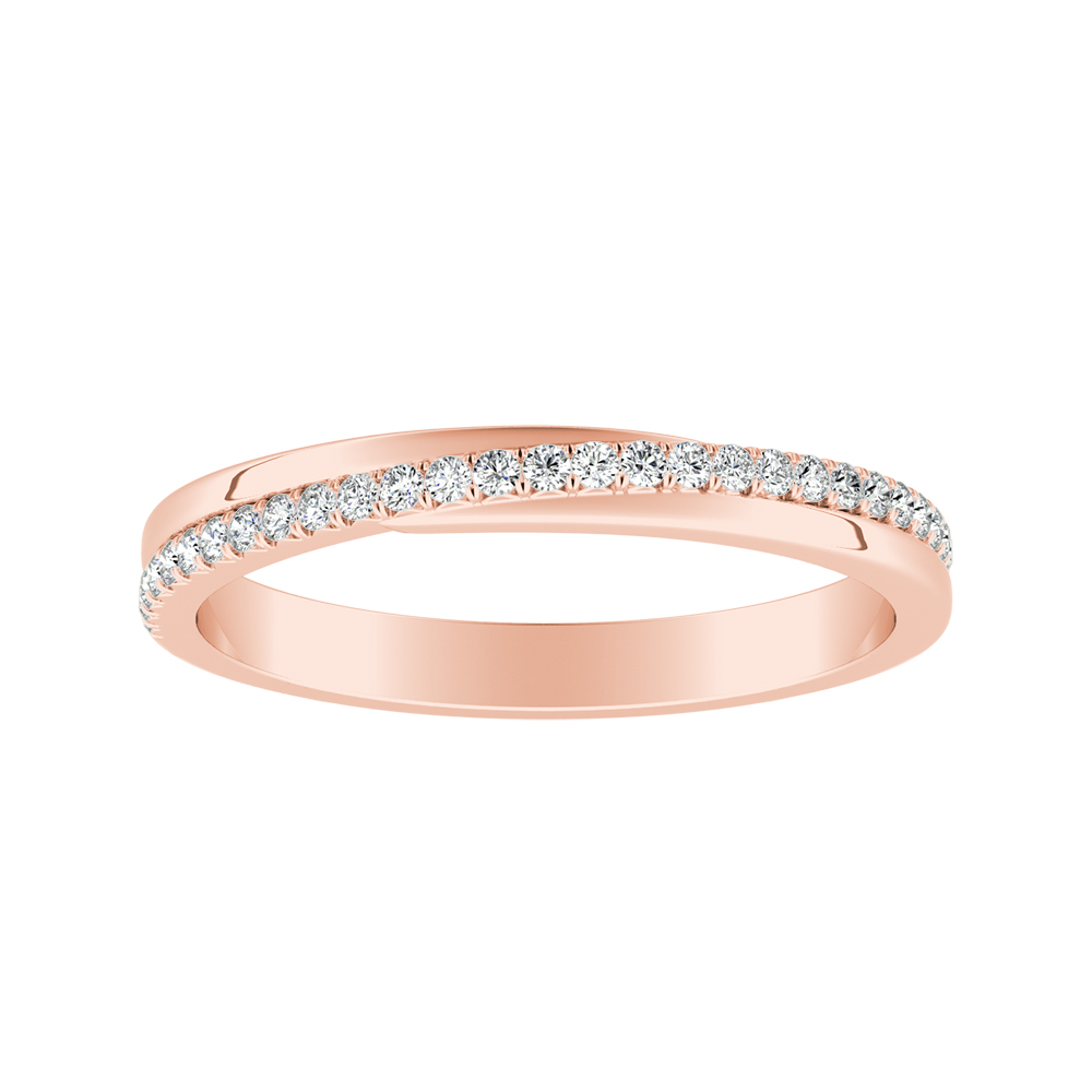 ALISON Diamond Wedding Ring In 14K Rose Gold