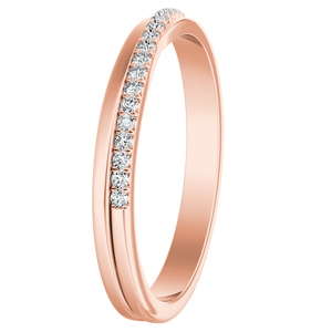 ALISON Diamond Wedding Ring In 14K Rose Gold