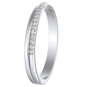 ALISON Diamond Wedding Ring In 14K White Gold