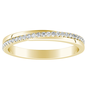 ALISON Diamond Wedding Ring In 14K Yellow Gold