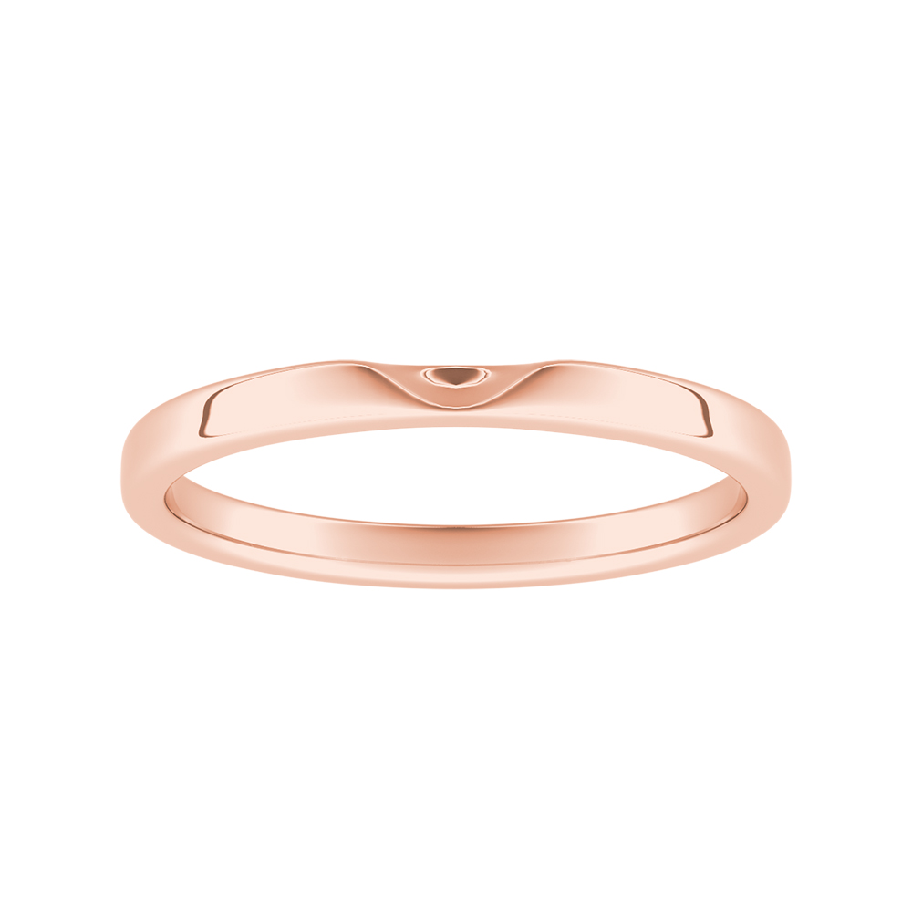 LANA Classic Stackable Wedding Ring In 14K Rose Gold