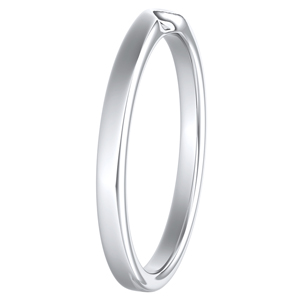 LANA Classic Stackable Wedding Ring In 14K White Gold