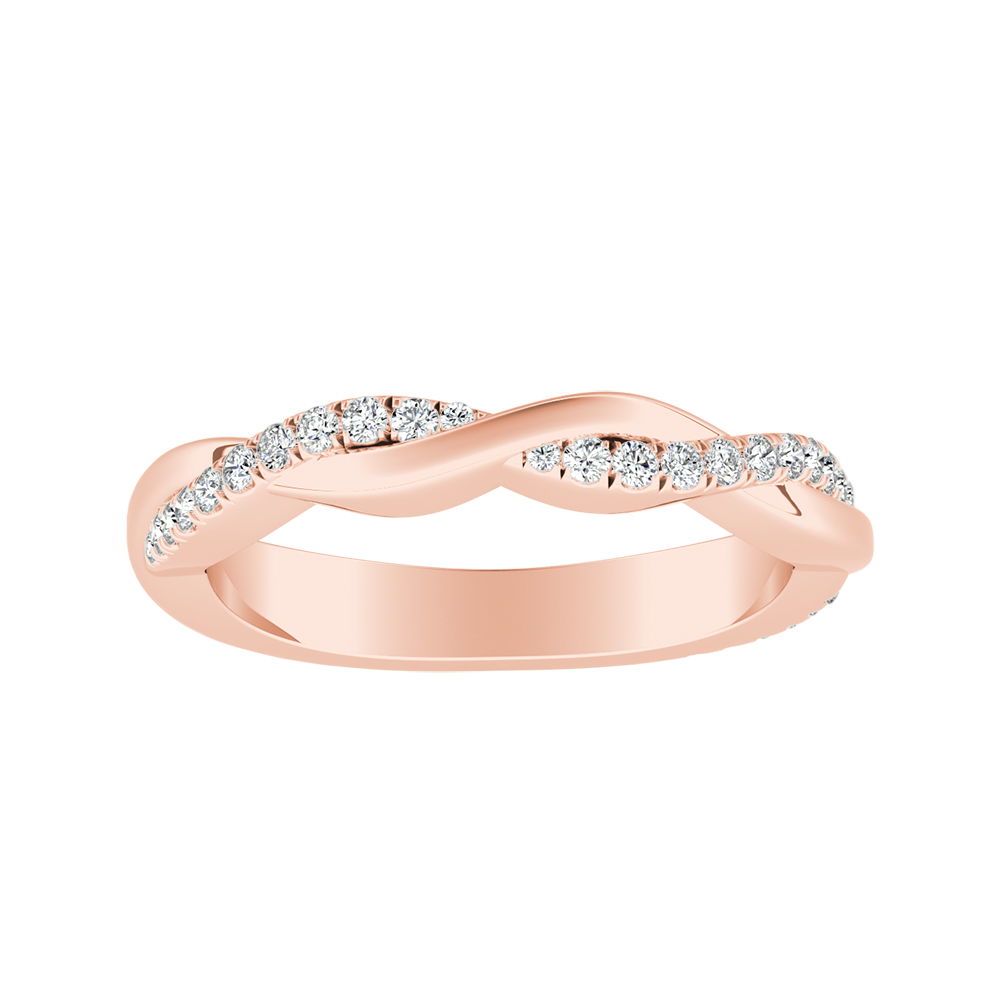 VIOLA Diamond Wedding Ring In 14K Rose Gold