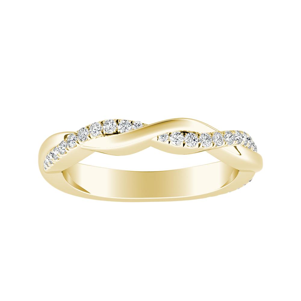 VIOLA Diamond Wedding Ring In 14K Yellow Gold