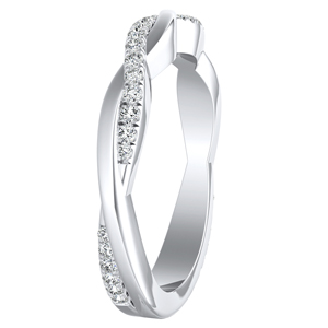 VIOLA Diamond Wedding Ring In 14K White Gold