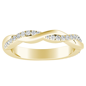 VIOLA Diamond Wedding Ring In 14K Yellow Gold