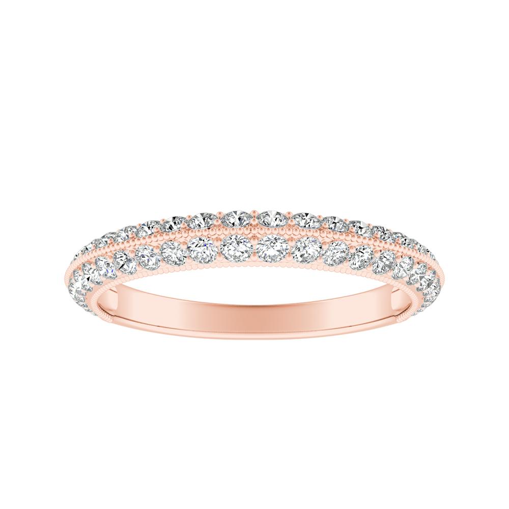 ZOEY Diamond Wedding Ring In 14K Rose Gold