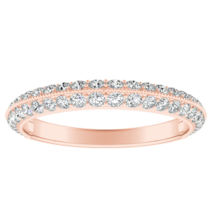 ZOEY Diamond Wedding Ring In 14K Rose Gold